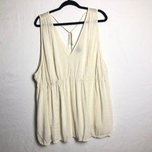 Torrid sleeveless boho blouse